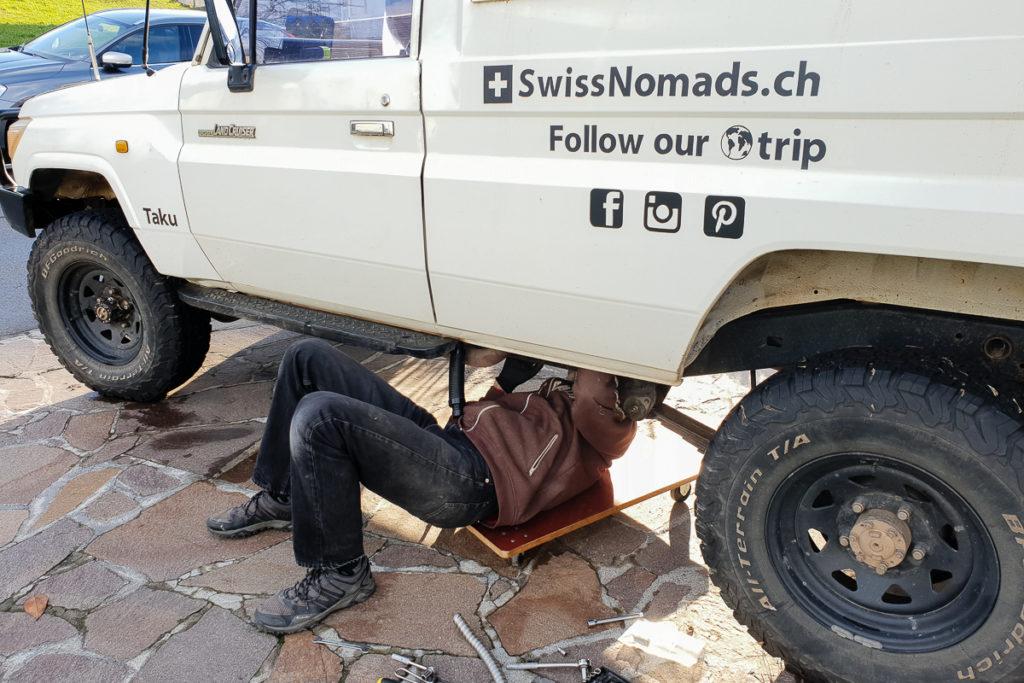 Einbau der Diesel Standheizung im Toyota LandCruiser