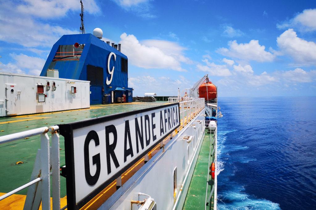 Grande Afrika Frachtschiffreise von Europa nach Südamerika