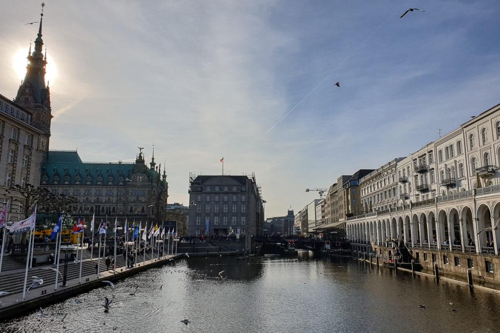 Im Zentrum von Hamburg