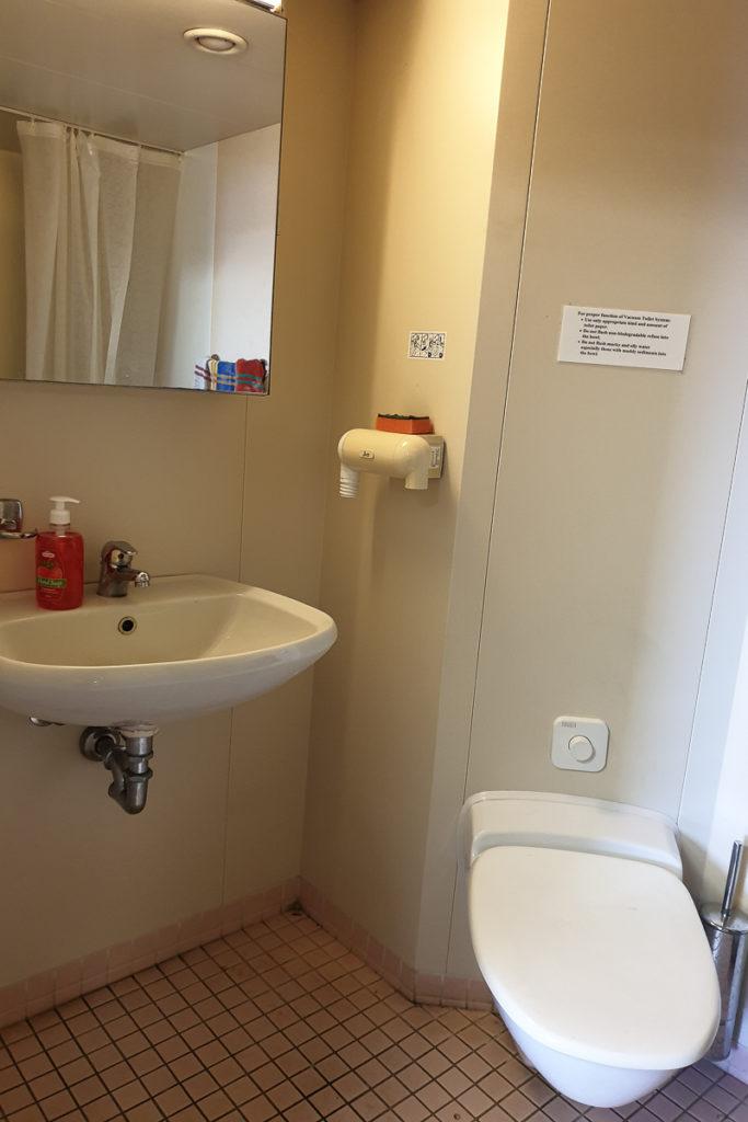Toilette in der Eigner Kabine auf der Grande Africa