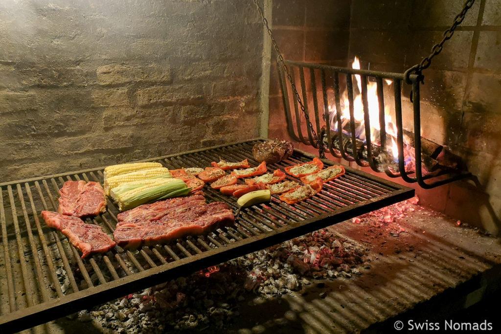 Asado grillen in Uruguay