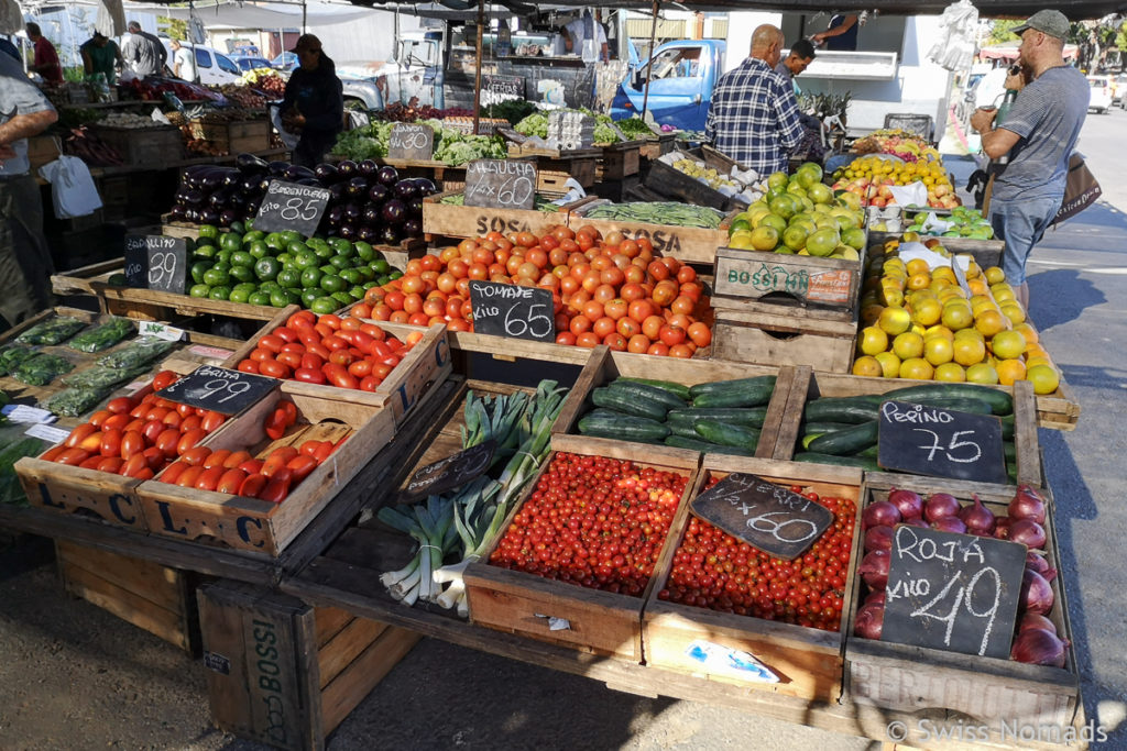 Markt in Piriapolis in Uruguay