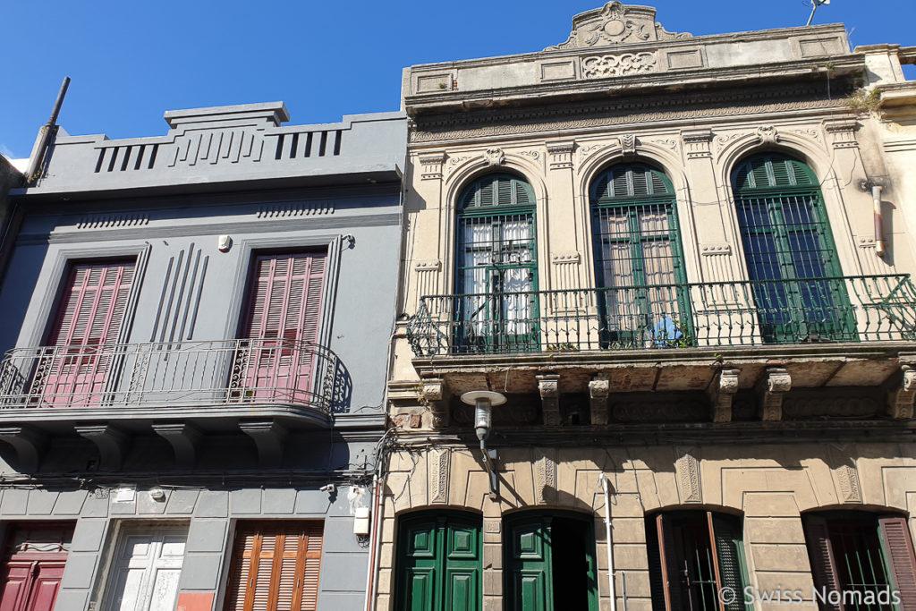 Gebäude in der Altstadt Ciudad Vieja in Montevideo