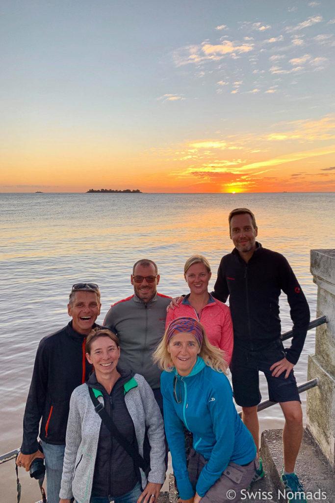 Conny, Roger, Anna, Sven, Reni und Marcel in Uruguay