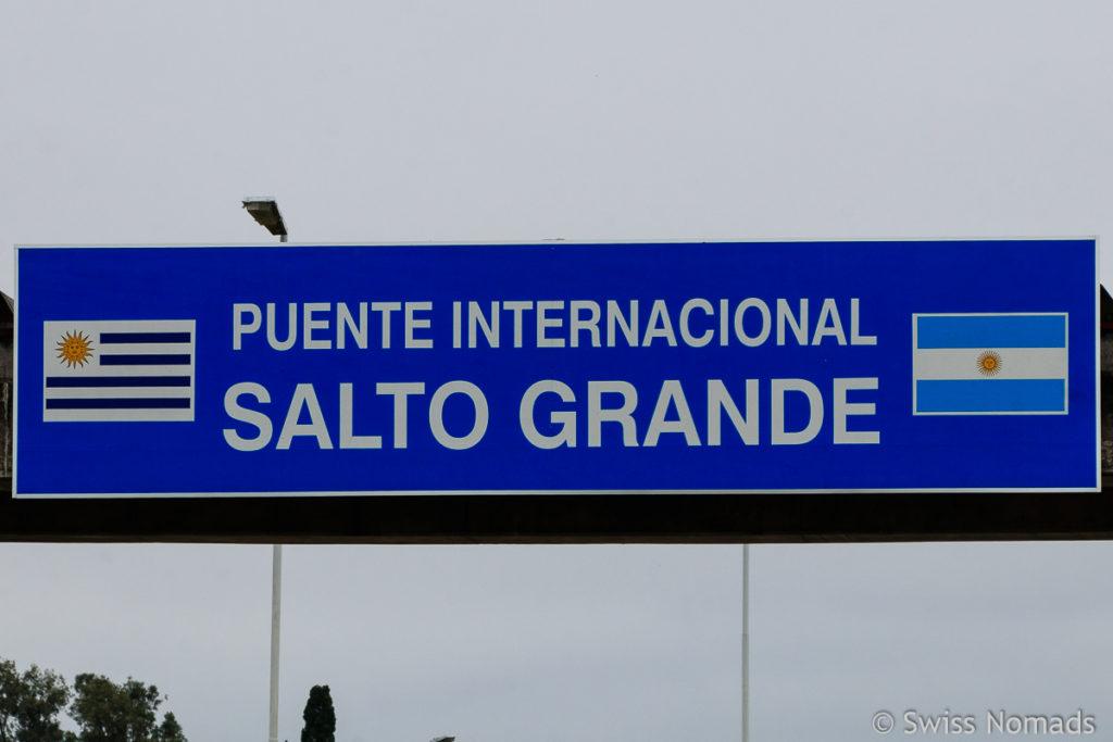 Grenze zwischen Urguay und Argentinien
