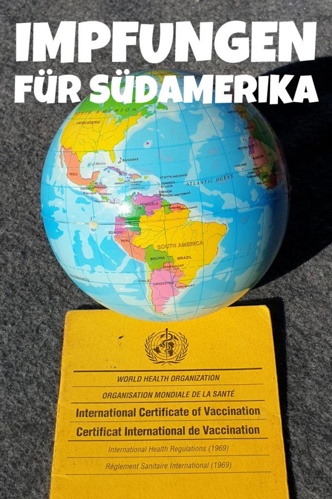 Impfungen für Südamerika Reisen