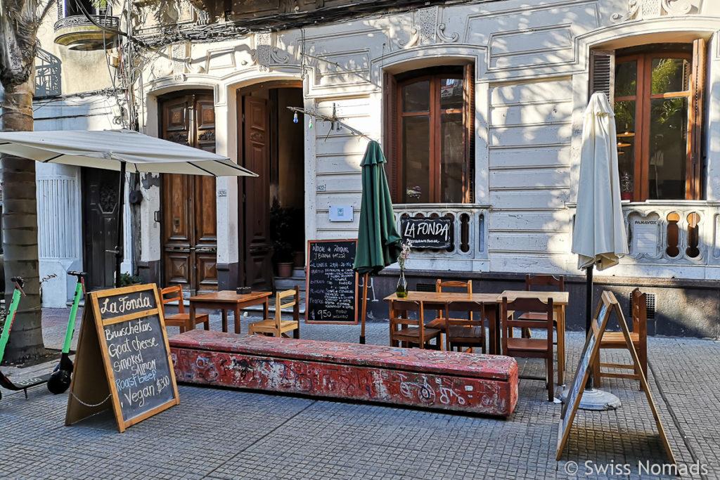 Restaurant in der Fussgängerzone in Montevideo