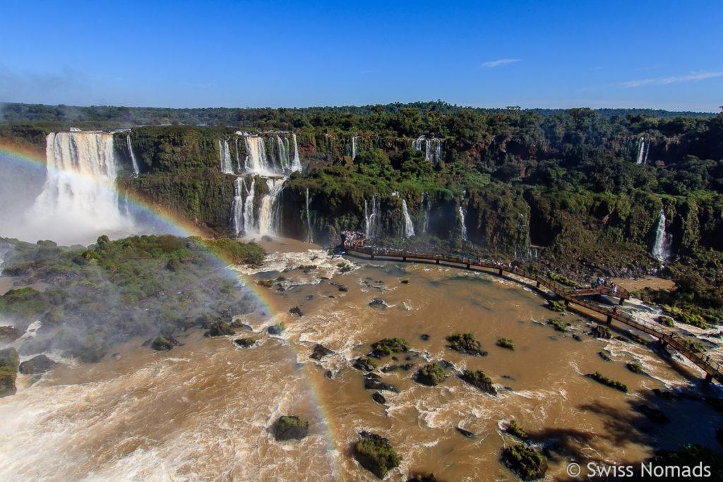 Aussicht Iguazu Wasserfälle Brasilien