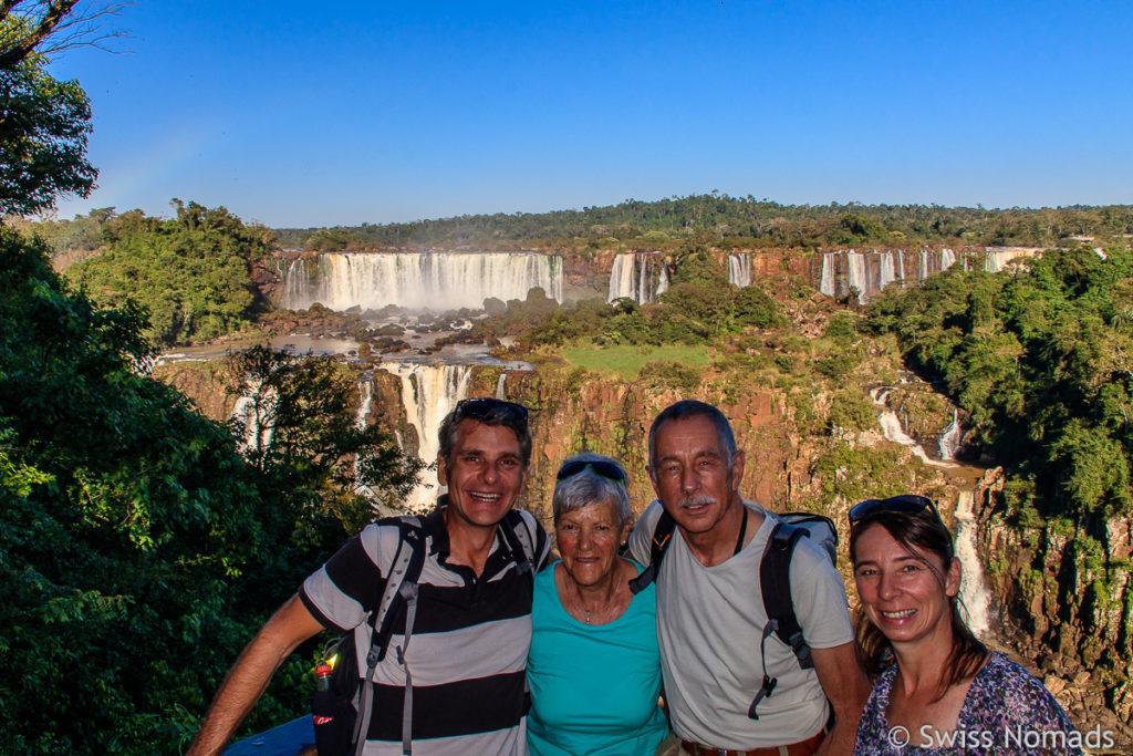 Familienfoto Iguazu Wasserfälle Brasilien