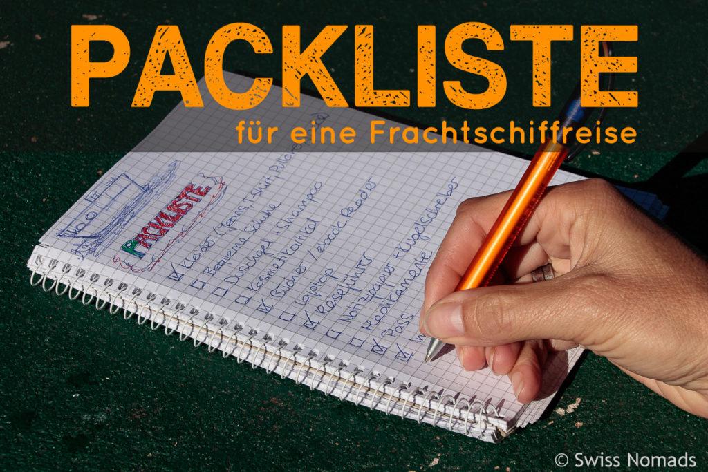 Packliste für eine Frachtschiffreise