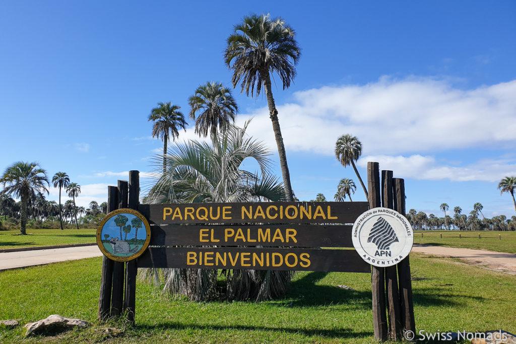 Parque Nacional el Palmar Argentinien Eingang
