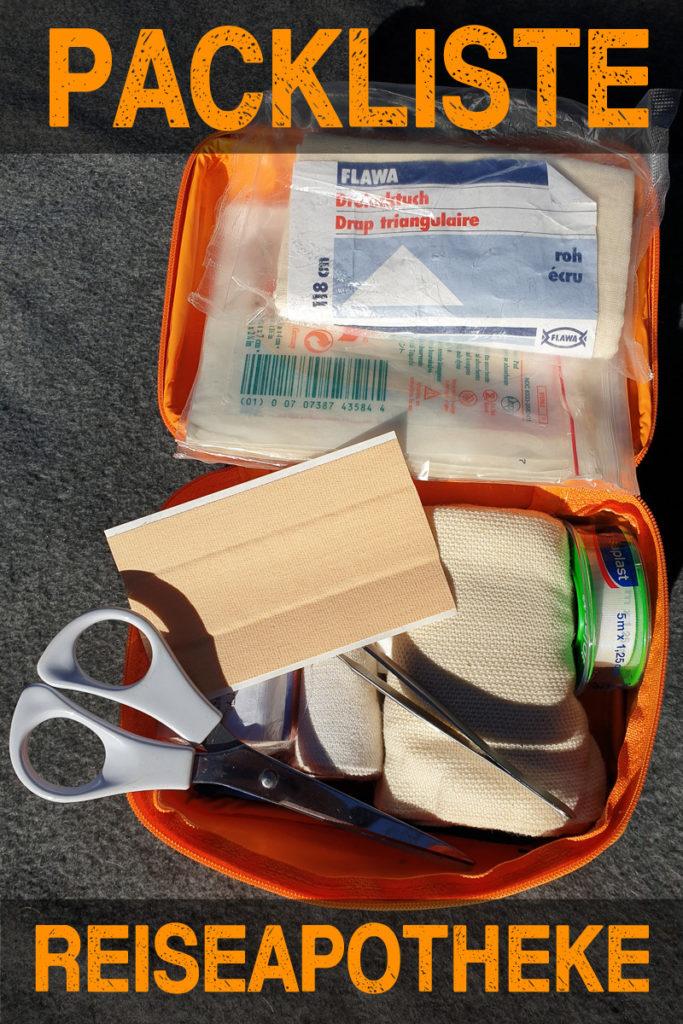 Reiseapotheke Packliste