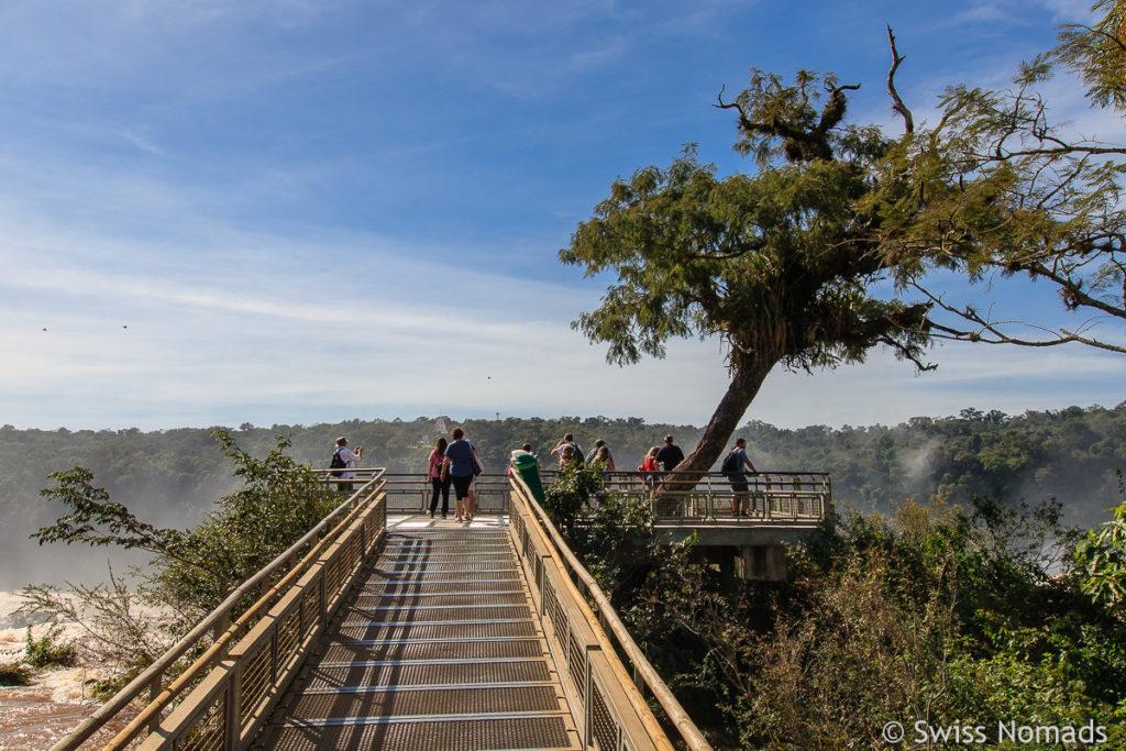 Steg Salto Martin Iguazu Wasserfälle
