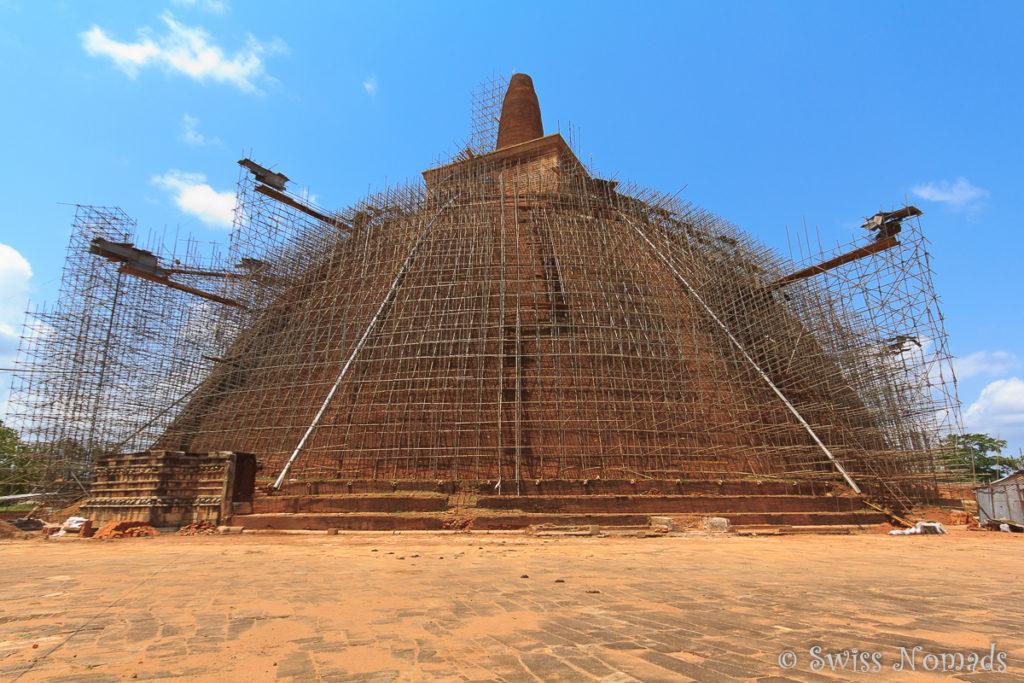 Abhayagiri Dagoba in Anuradhapura