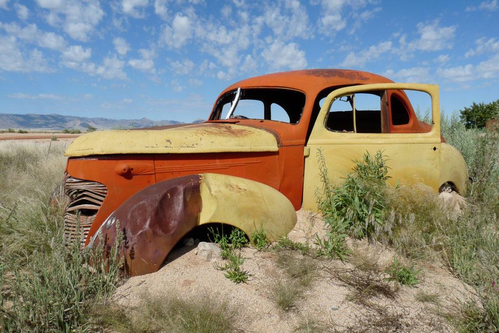 Auto Wrack in Namibias Norden