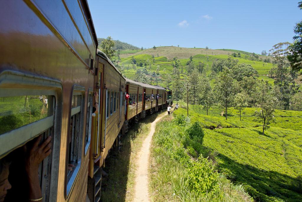 Bahnfahrt Teeplantage Sri Lanka