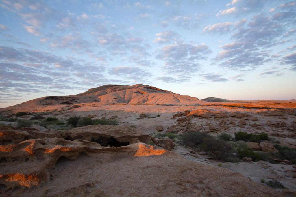 Morgenstimmung an der Blutkuppe in Namibias Norden