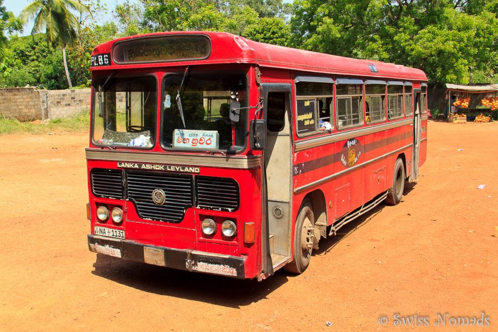 Bus zu den Sri Lanka Sehenswürdigkeiten