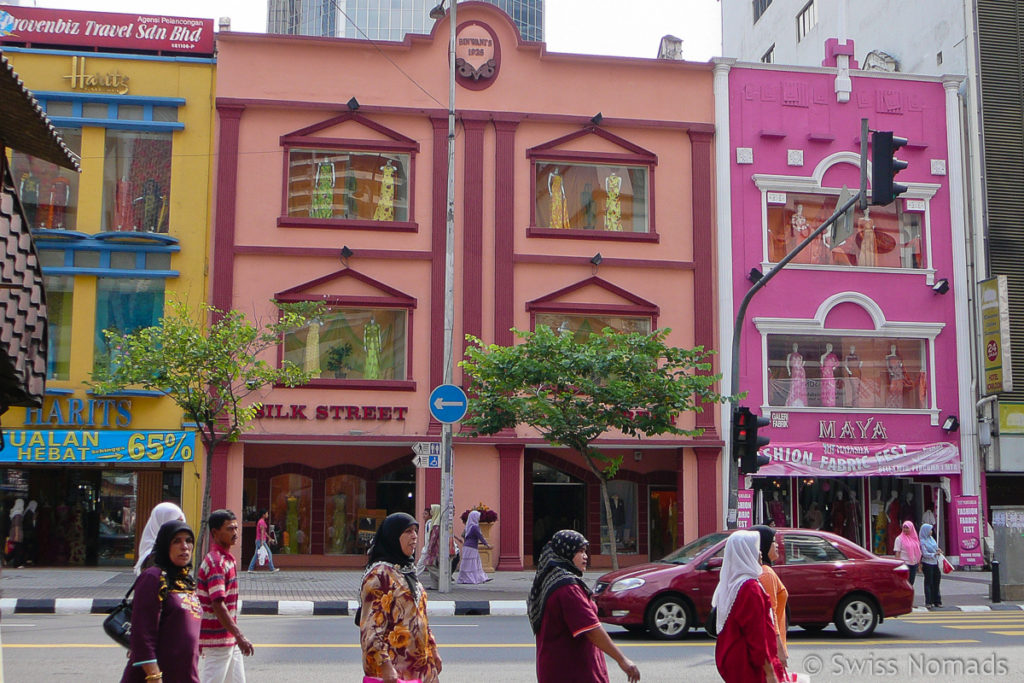 Bunte Häuser in Little India
