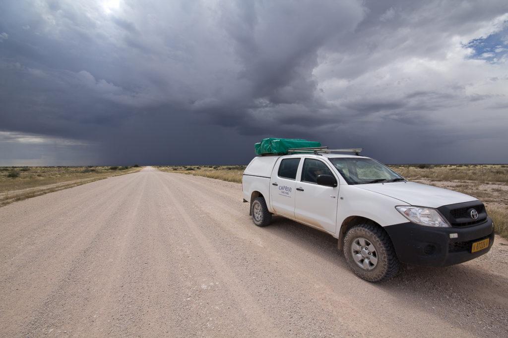 Regenwolken beim Namibia Roadtrip