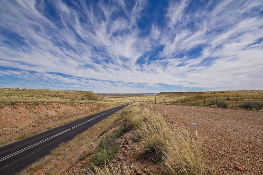 Strasse Richtung Süden von Namibia
