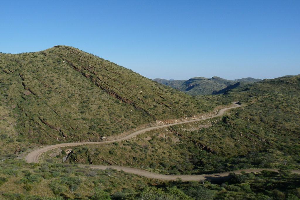 Passstrasse in Namibias Norden