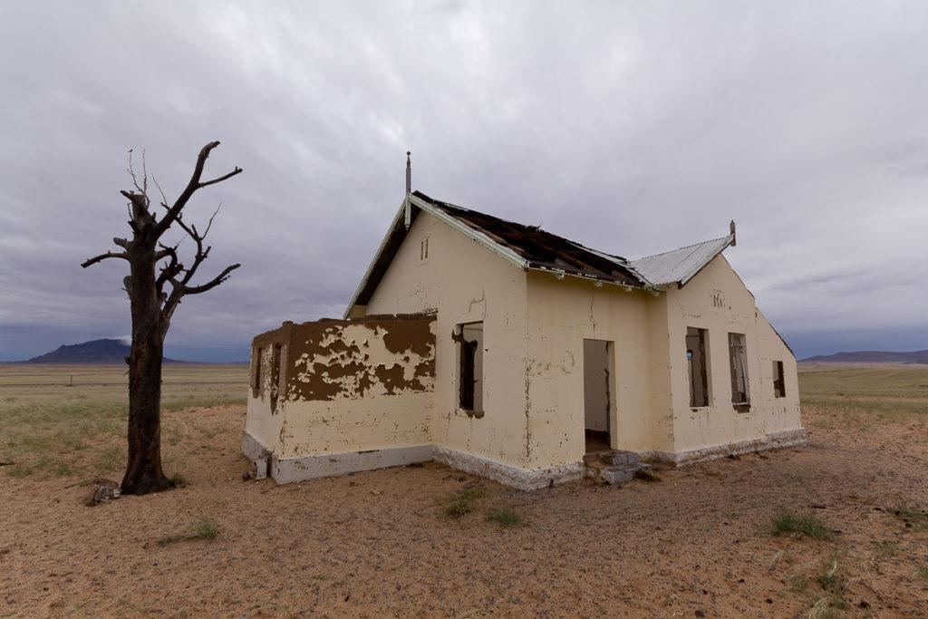 Bahnhofsruine in Namibia