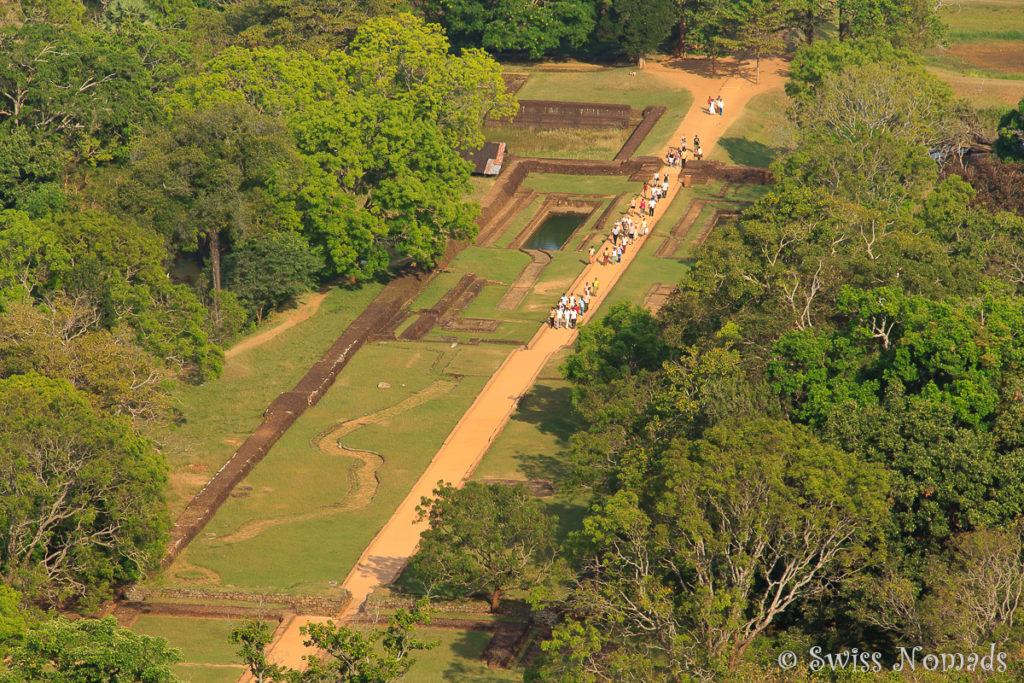 Sigiriya Rock Aussicht Gartenanlage