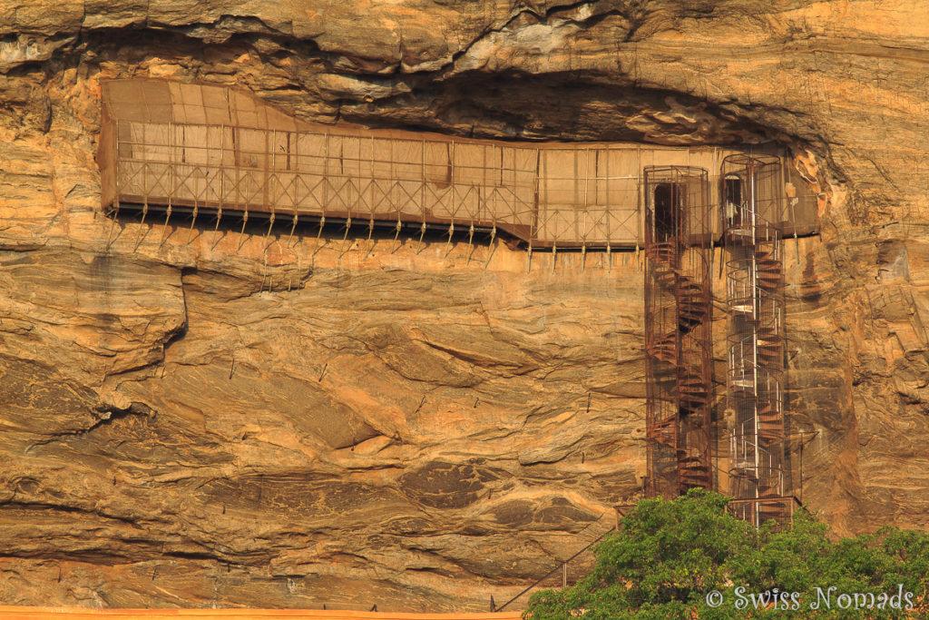 Sigiriya Rock Wendeltreppe Aufstieg