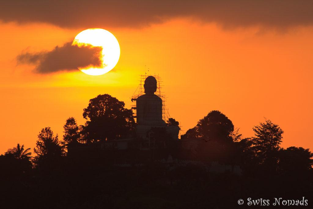 Sonnenuntergang Kandy Buddha