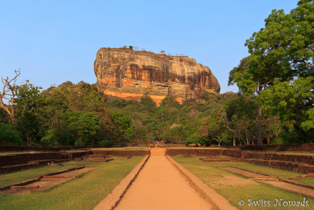 Sri Lanka Sehenswürdigkeiten Sigiriya Rock