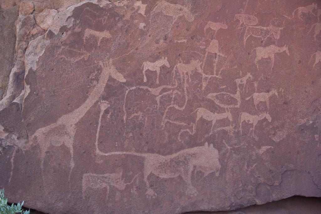 Twyfelfontein Felsgravuren in Namibia