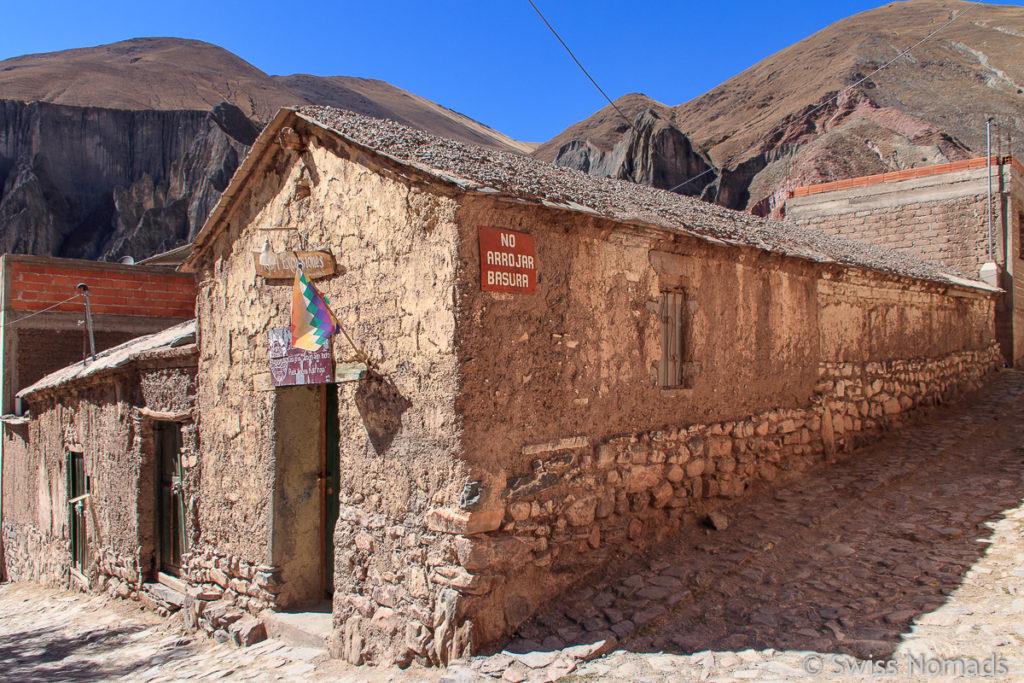 Adobe Haus in Iruya in Argentinien