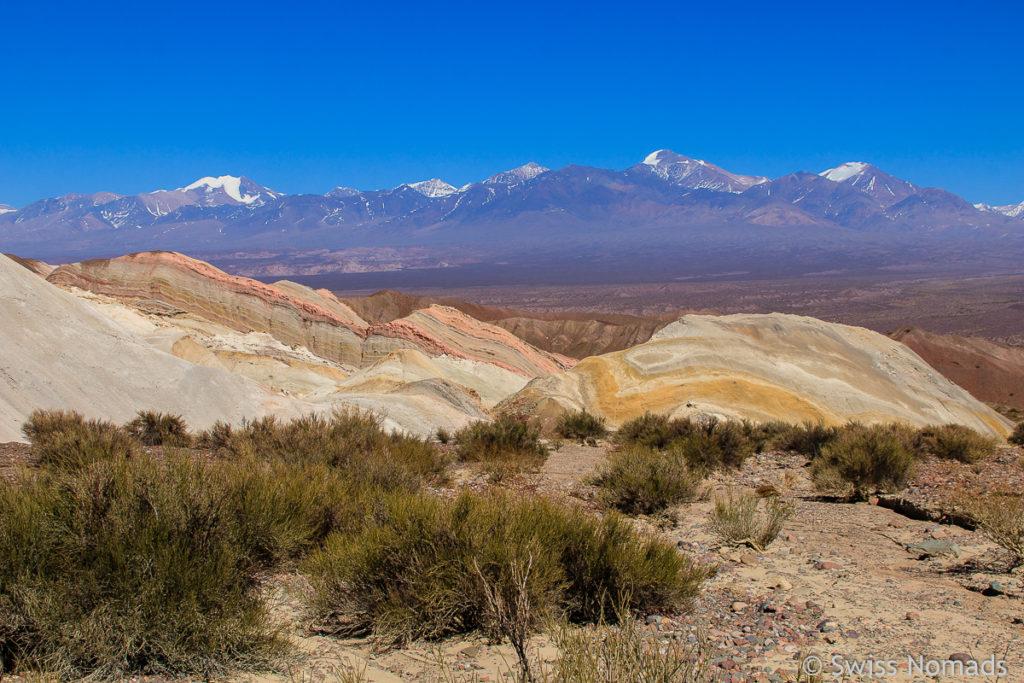 Aussicht Cerro Siete Colores Calingasta