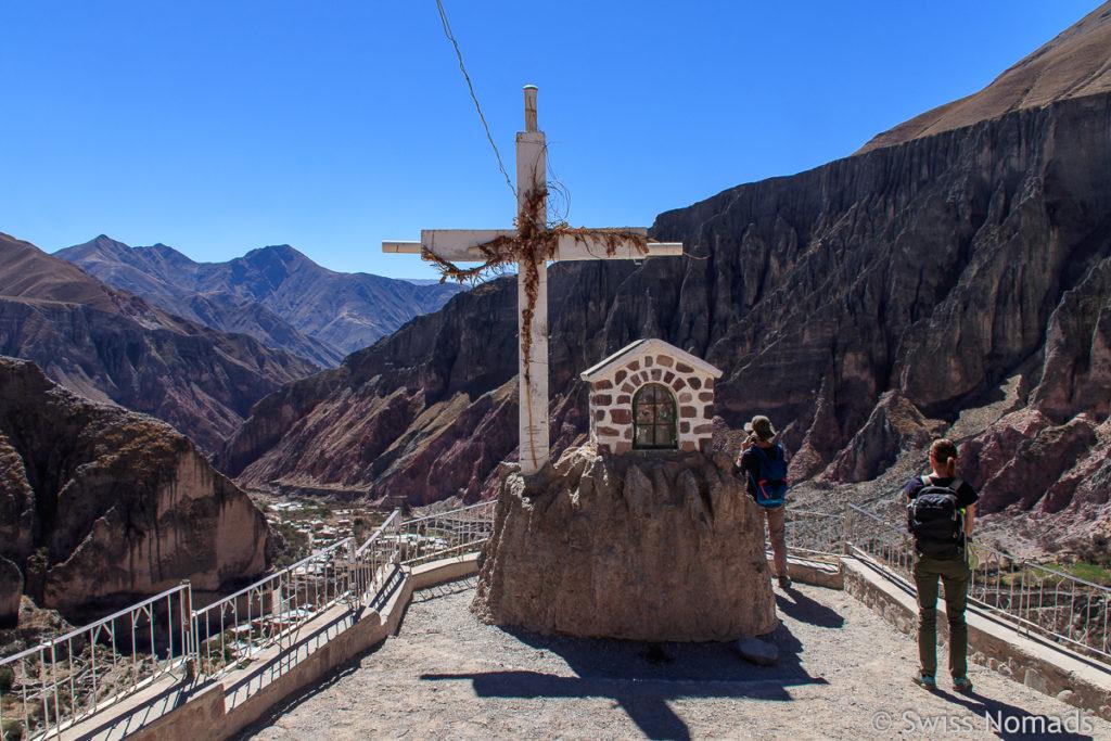 Iruya Aussichtspunkt mit Kreuz