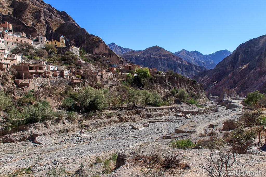 Iruya mit dem ausgetrockneten Flusslauf