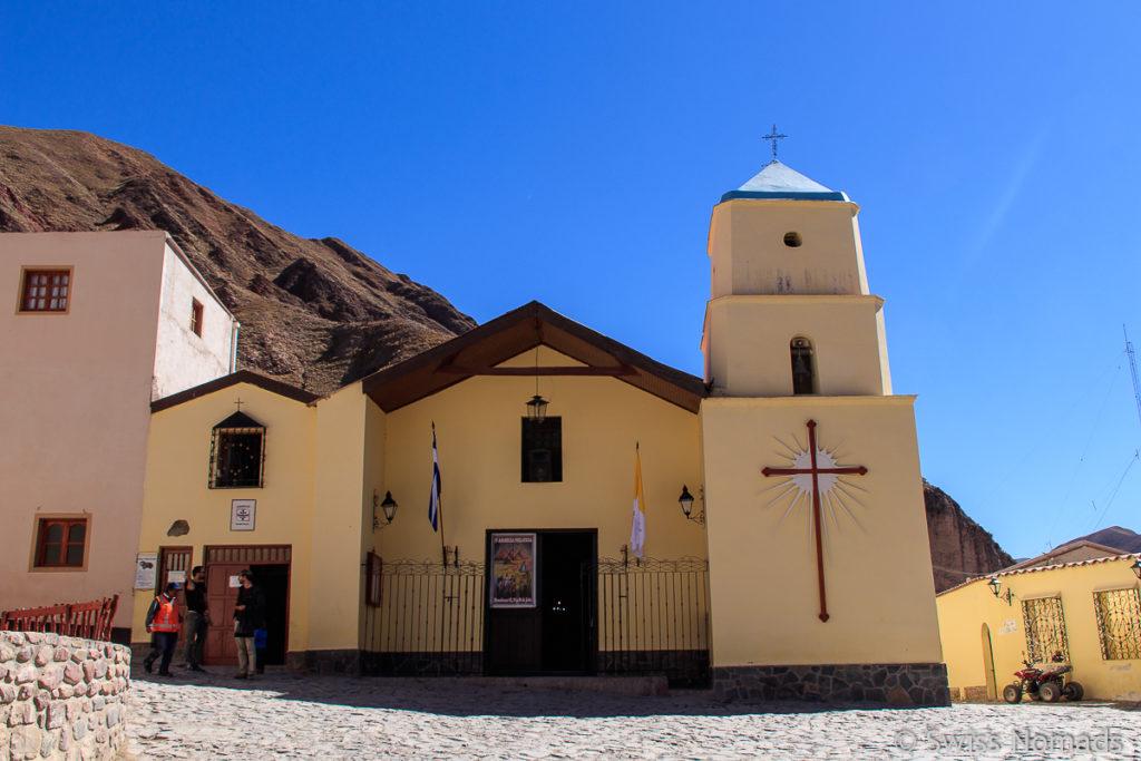 Die Kirche von Iruya in Argentinien