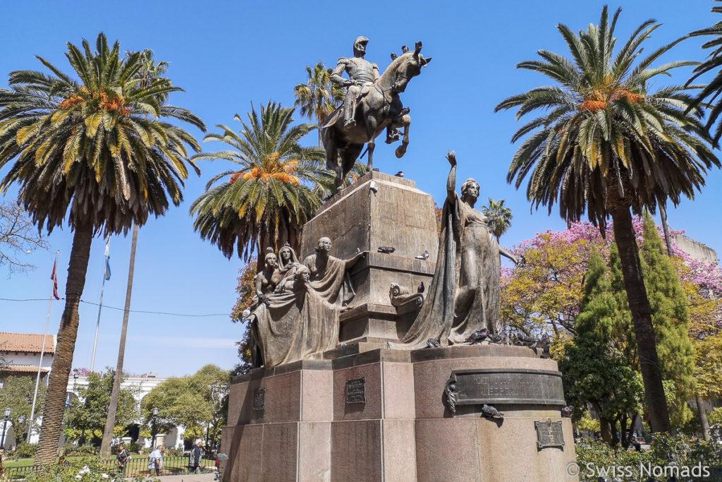Plaza 9 julio in Salta