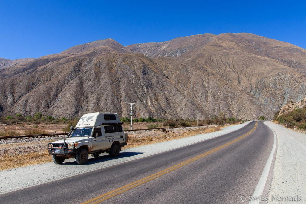 Die Ruta Nacional 9 durch die Quebrada de Humahuaca