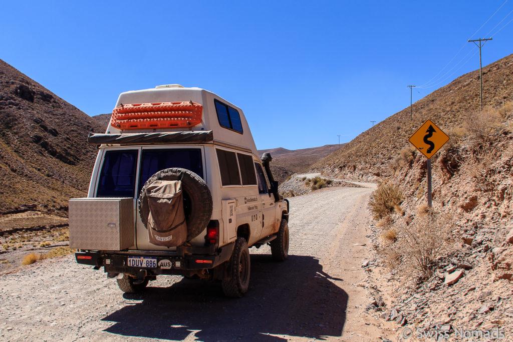 Die Ruta Provincial 13 in Nordargentinien