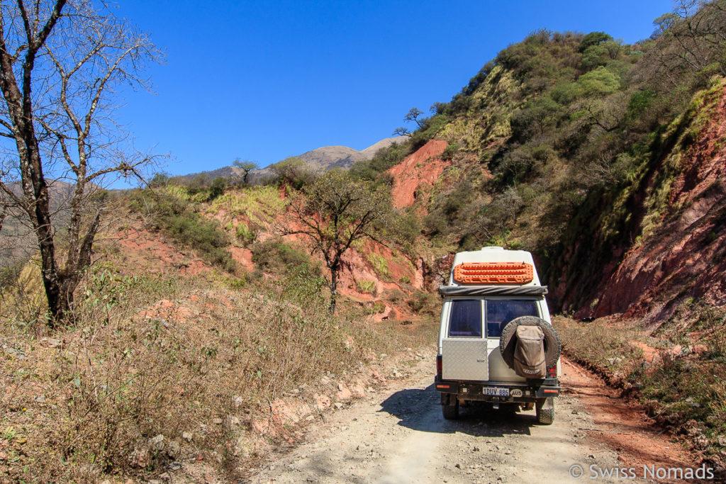 Die Ruta Provincial 4 durch den Potrero de Yala