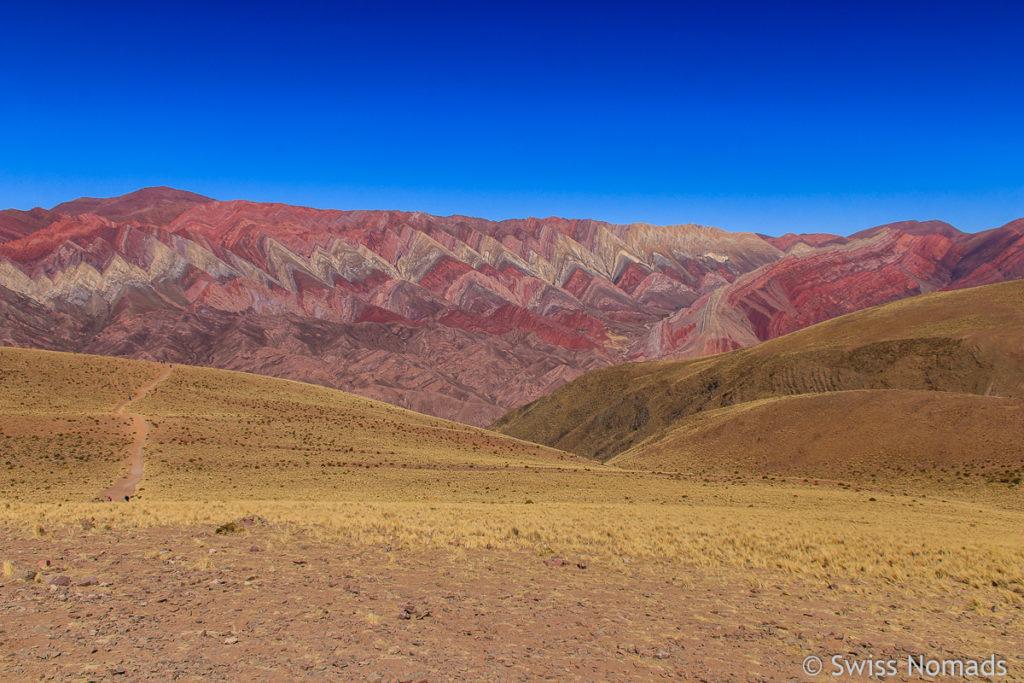 Serrania de Hornocal in der Quebrada de Humahuaca
