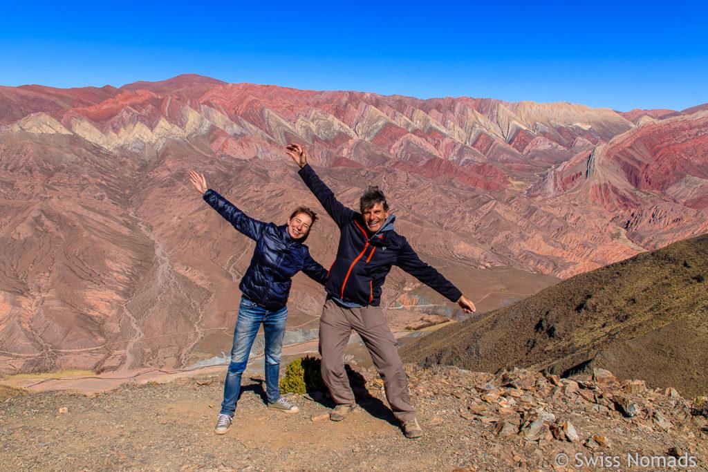 Selfie vor den Serrania de Hornocal