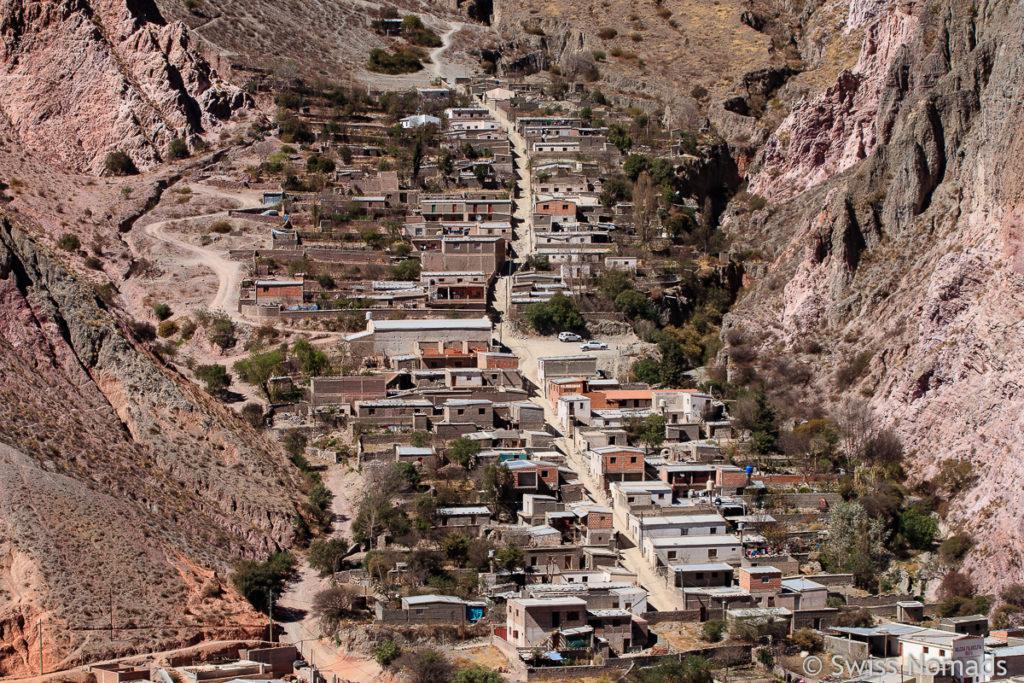 Die steilen Strassen in Iruya