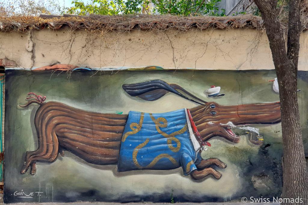 Street Art Hund
