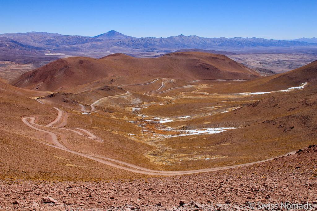 Aussicht vom Abra del Acay in Argentinien