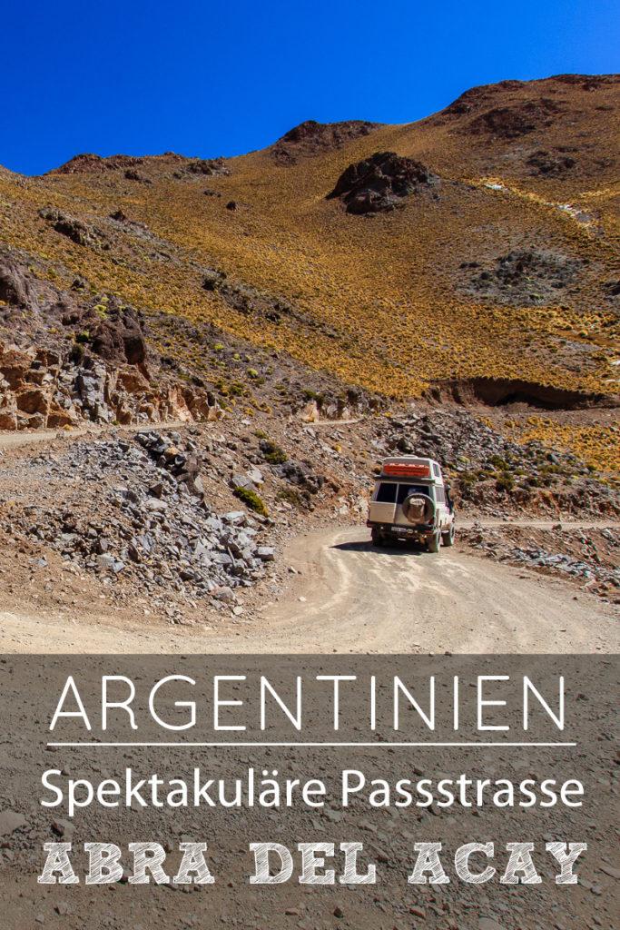 Abra del Acay Pass in Argentinien