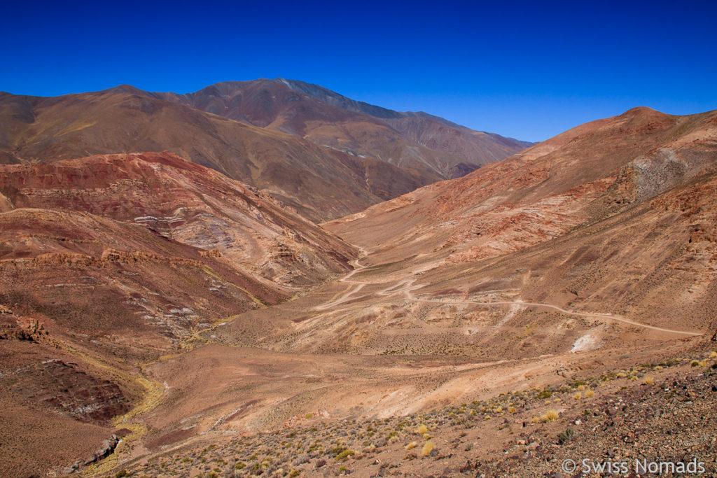 Abfahrt ins Tal am Abra del Acay