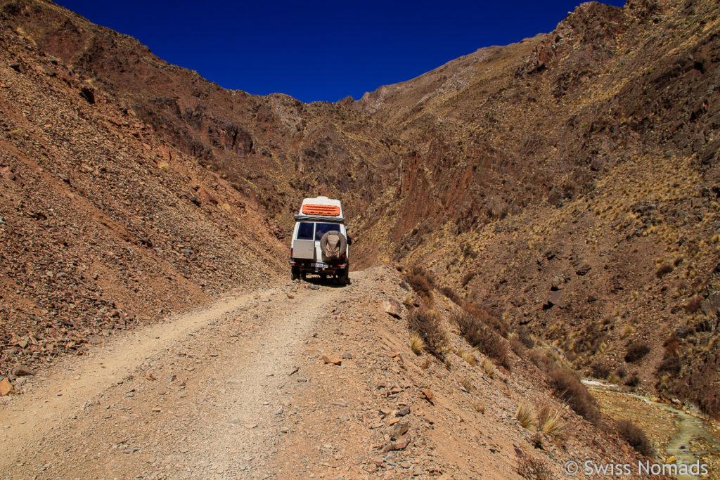 Offroad Track zur Mina La Mejicana