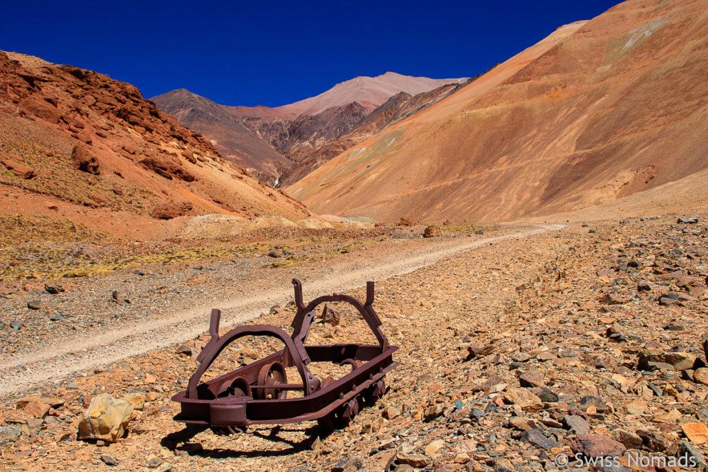 Rahmen eines der Transport Wagen der Mine